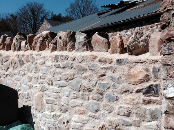 stone wall repair Exeter